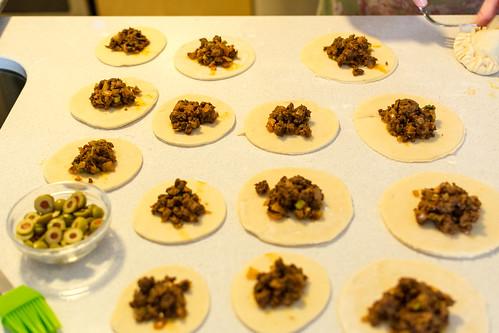 Argentinian empanadas with chimichurri