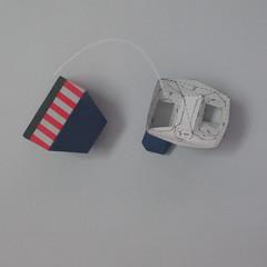 วิธีทำของเล่นโมเดลกระดาษกับตันอเมริกา (Chibi Captain America Papercraft Model) 014