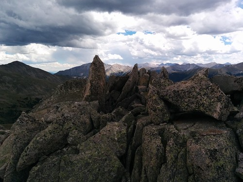 cool rocks above Brown's Pass