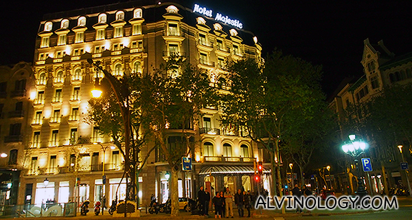 Barcelona with qatar airways staying at majestic hotel for La roca barcelona