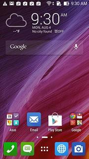 Home screen ของ Asus Zenfone 4 (A450CG)