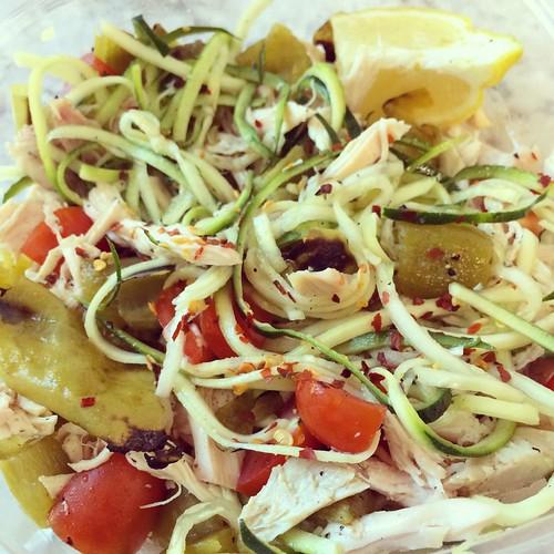 Chicken Zucchini Noodle Salad