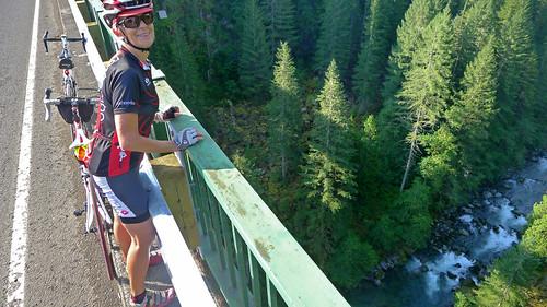 Tricia on bridge Washington Cascades_0371
