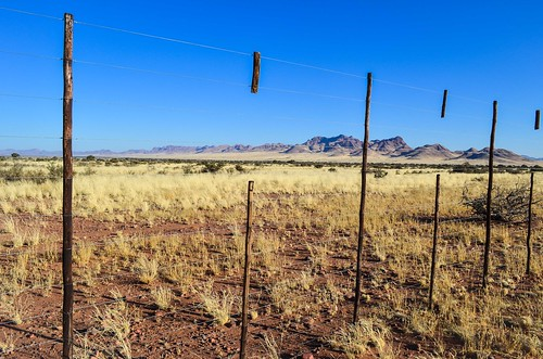 High fences for game farms in Namibia