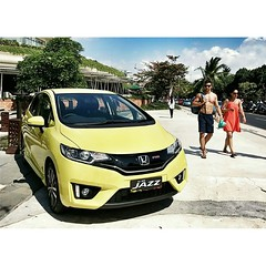 Center of attention. #car #cars #honda #hondajazz #bali #kuta #indonesia #hatchback