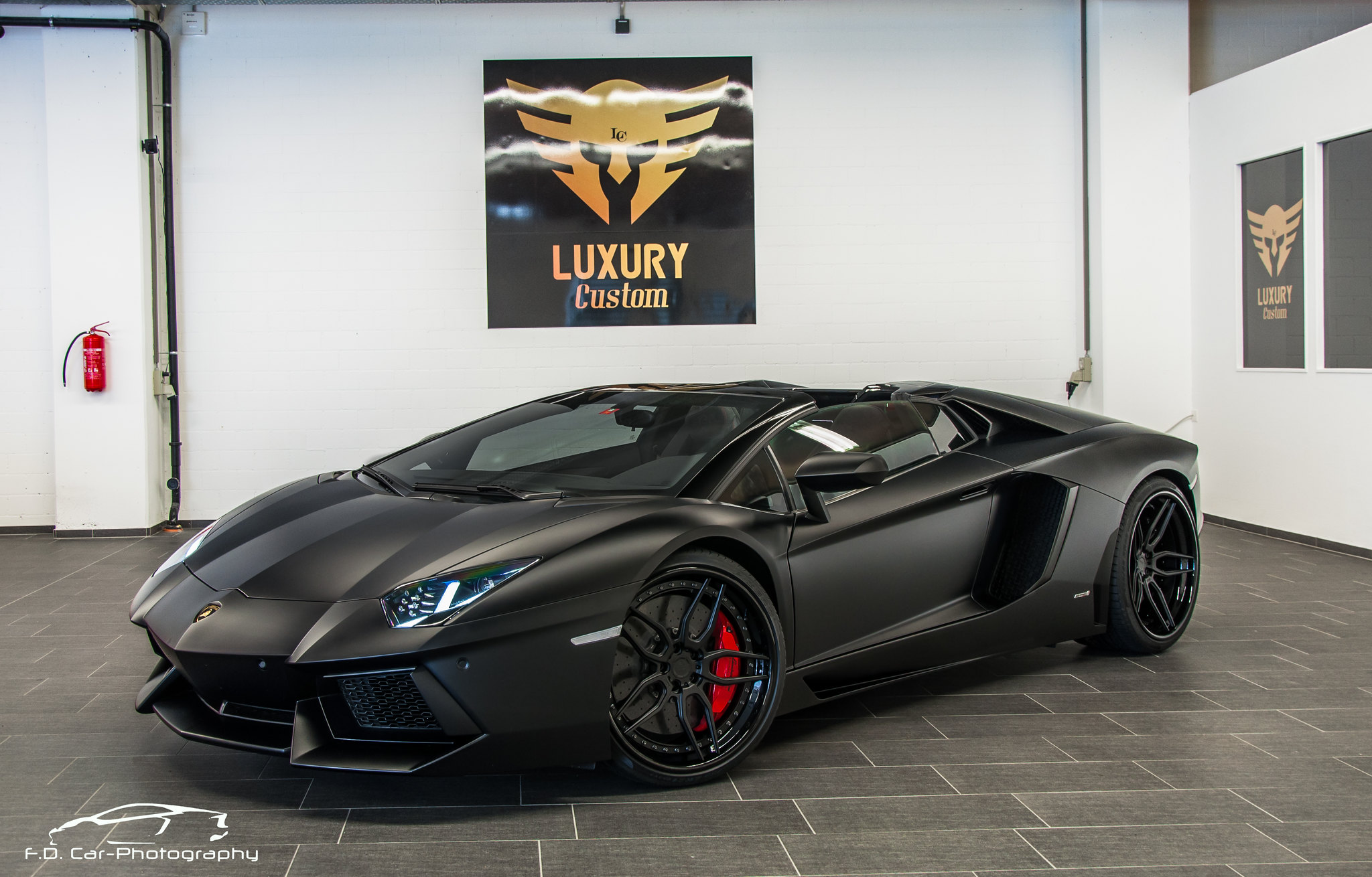matte black lamborghini aventador roadster os 2048 x. Black Bedroom Furniture Sets. Home Design Ideas