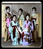 VICTIMS OF DOMESTIC HUMAN TRAFFICKING in OLD JAPAN -- Sad Faces in Pretty Kimonos