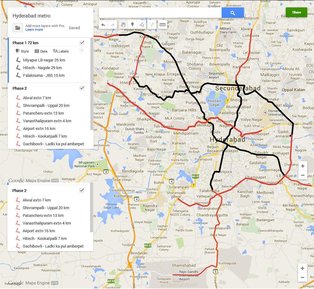 Hyderabad Pakistan Map 2013