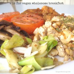 V is for Vegan Wholesome Breakfast