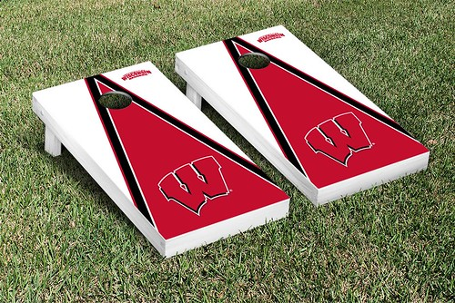 Wisconsin Badgers Cornhole Game Set Triangle Version