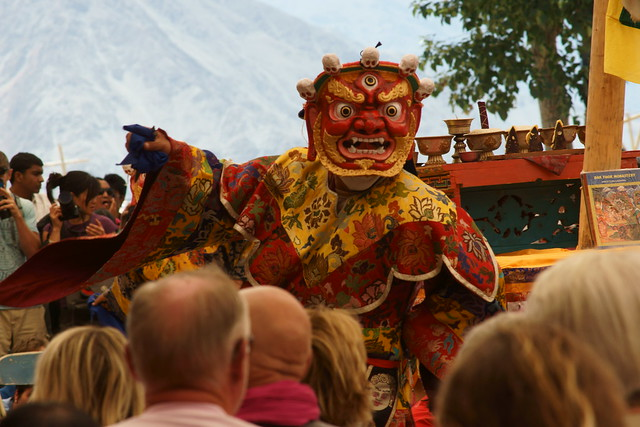 Cham dance, festival at Takthok Gompa. Ladakh, 06 Aug 2014. N007