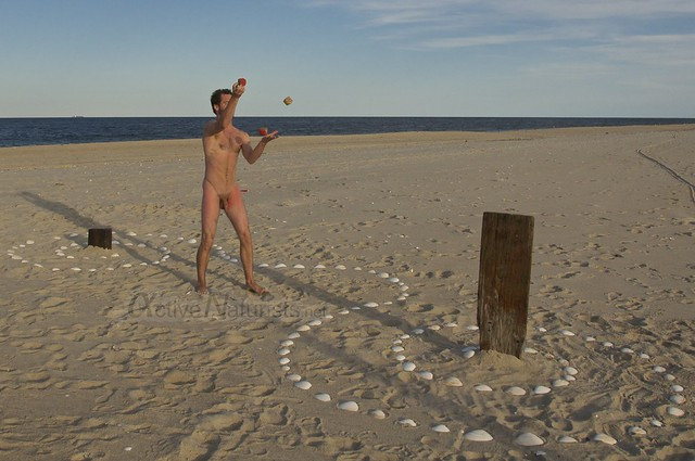naturist juggler 0026 Sandy Hook, NJ, USA