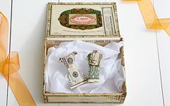 Origami Cash Bride and Groom