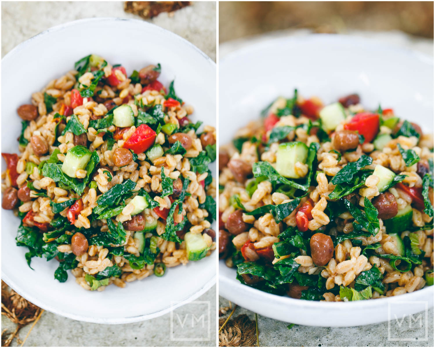 Vegan Farro Salad with Fava Beans
