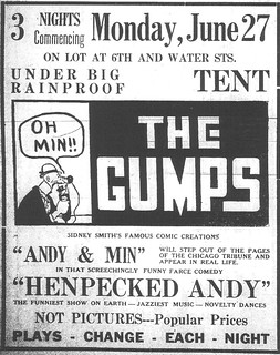 2014-8-21. Ad for entertainment featuring the 'Gumps'