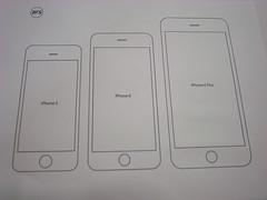 iPhoneの型紙。