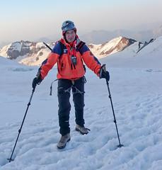 Ja, gdzieś na plateau (4400m) w drodze na szczyt Kazbek 5043m