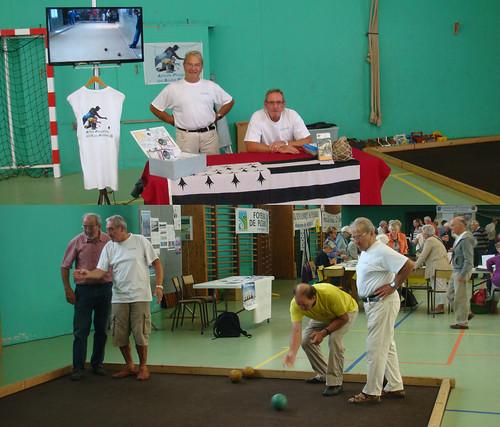L'Amicale Plouganiste des Boules Plombées au forum des associations à Plougasnou le 06/09/2014