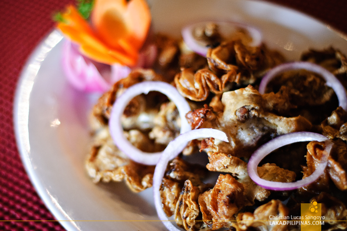 Chicharon Bulaklak at J.J. Sports Bar in Parañaque City