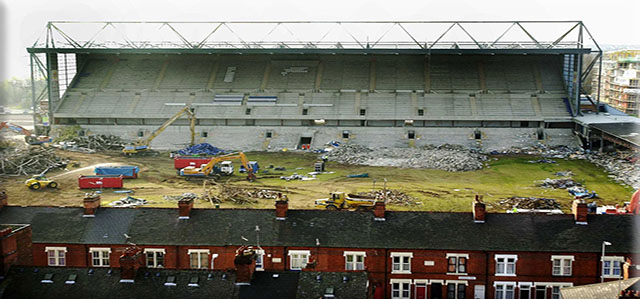 Demolition of Filbert St stadium picture