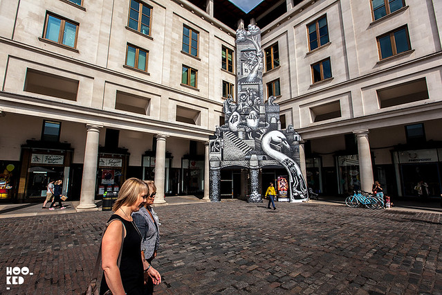 Street artist Phlegms' London installation for the Royal Ballet