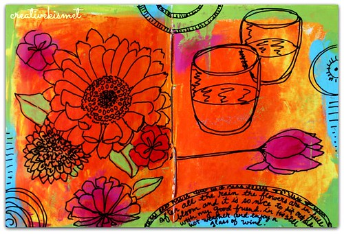art journal page by Regina Lord