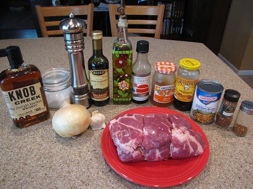Bourbon Peach BBQ Pulled Pork Ingredients