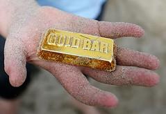 Folkestone fake plastic gold bar