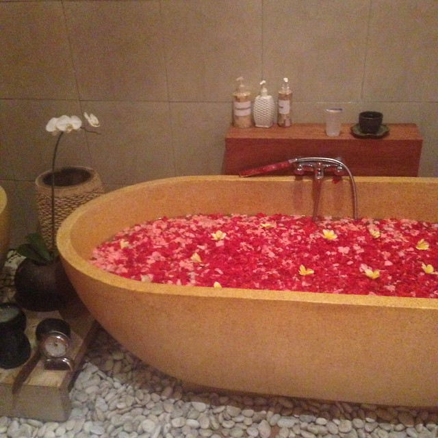 Flower bath for Mandi Lulur at Spa Bali