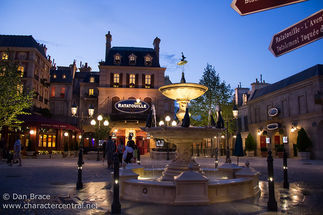 The brand new Ratatouille area by night
