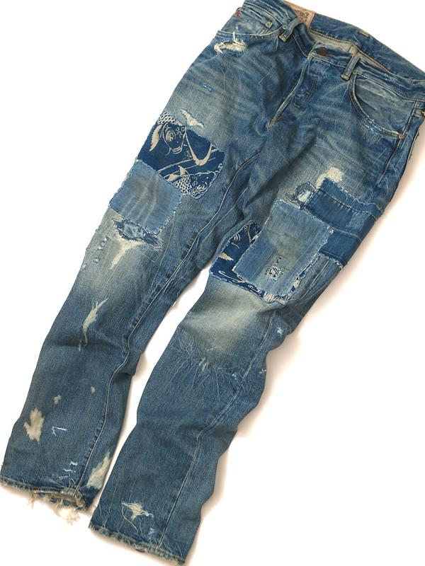 Ralph Lauren / Slim-Fit Repaired Jean