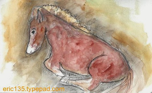 "Rosebud - From James Gurney's ""Watercolor in the Wild"" video"
