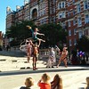 A circus photocall (maybe Cirque du Soleil?) this morning in front of the Royal Albert Hall
