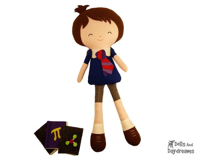 School Boy Nerd Doll Sewing Pattern