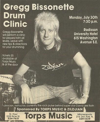 07/30/90 Gregg Bissonette Drum Clinic @ Radisson University Hotel, Minneapolis, MN