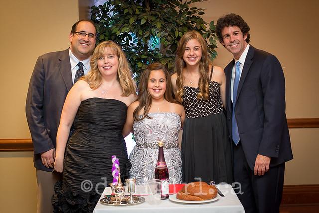Rachel's Bat Mitzvah family photograph