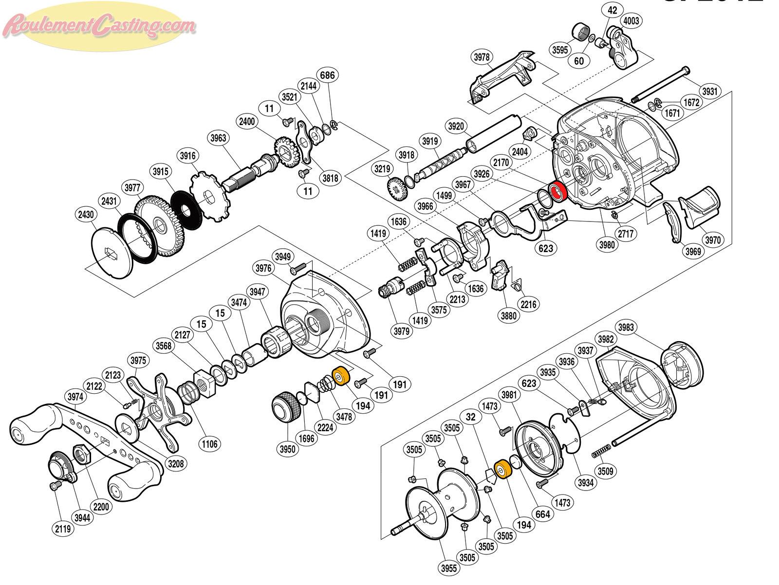Schéma Shimano 09' Citica 201E