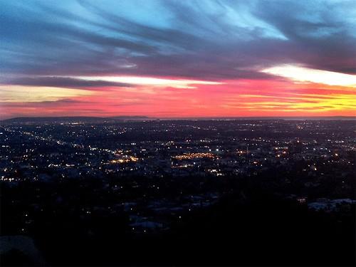LA Sky Fire.