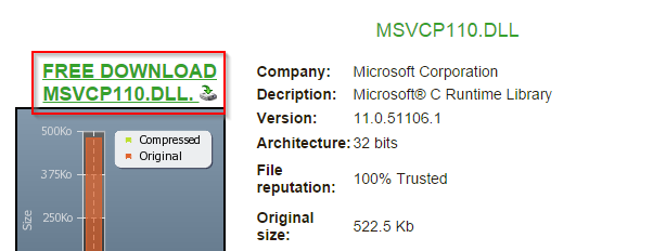 Pobieranie pliku MSVCP110.dll