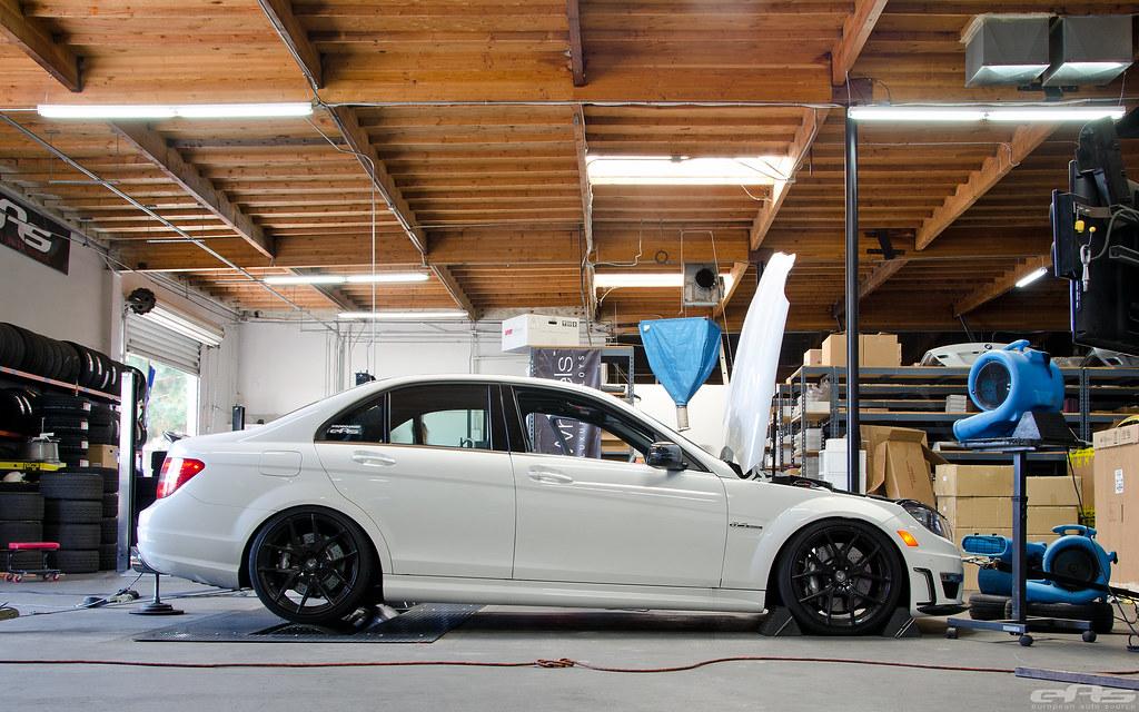 White Mercedes-Benz C63 AMG Dyno 02   european auto source   Flickr