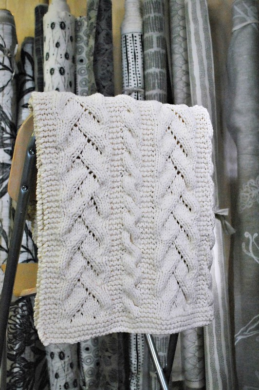Fancy Cables And Lace Baby Blanket Handmakers Factory
