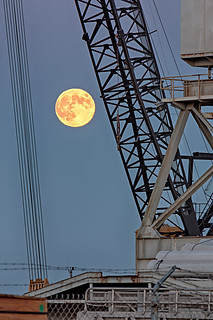 Harvest Moon at Mare Island 1