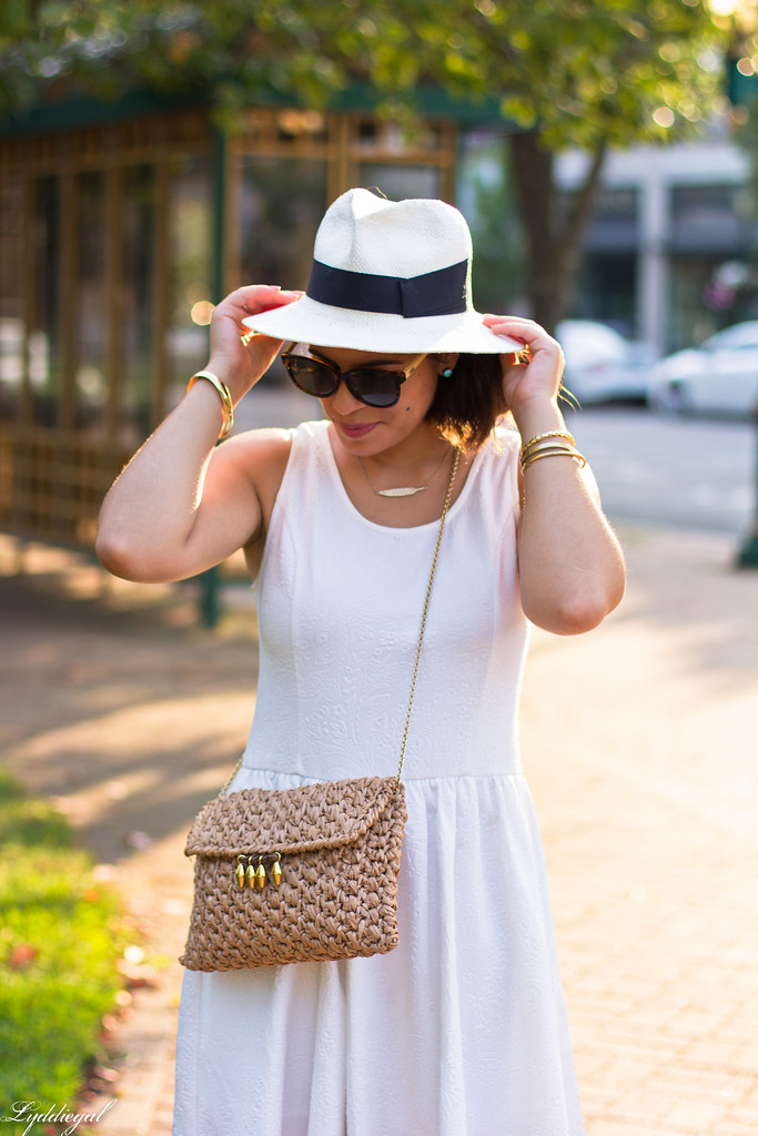 Little white dress, panama hat, straw clutch-2.jpg