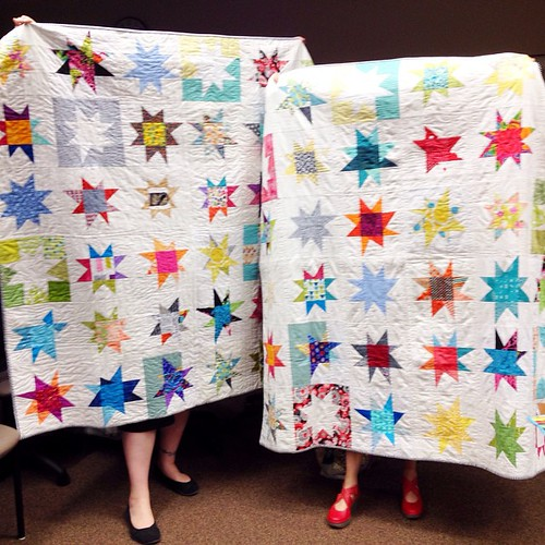 I love you FVMQG! Beautiful quilts sewn for @cynthiafrenette and I! Thank you so much! The best 4 years ever!