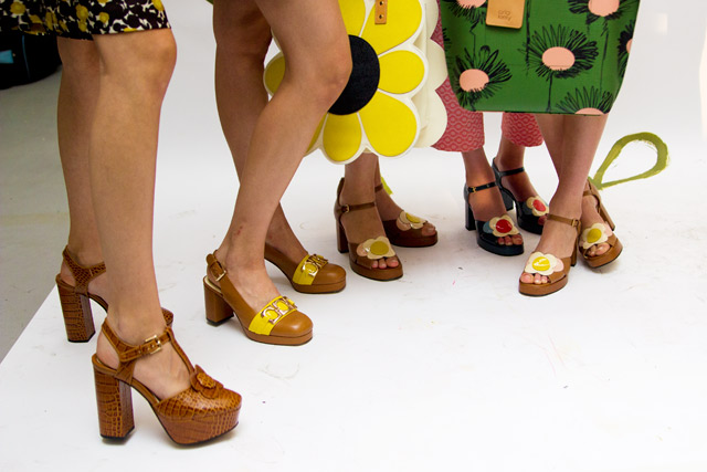 Orla Kiely SS15 Clarks shoes