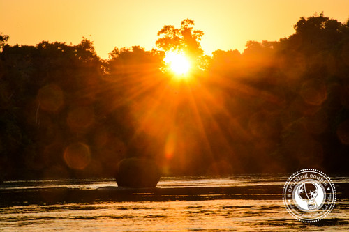 Sunset over River in Southern Amazon