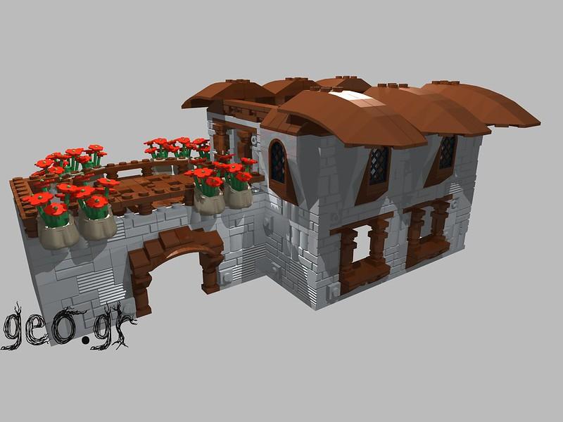 [Digital MOC]:Modular Cottage House 15275475896_1377eb8289_c
