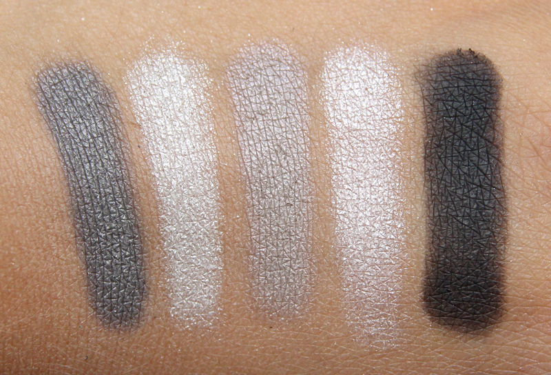 Dior bar 5 couleurs eyeshadow palette swatch