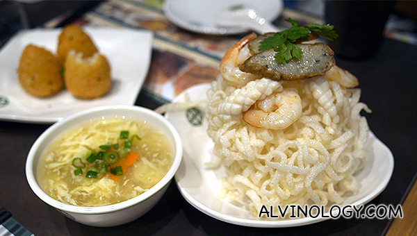 Crispy Seafood Rice Hor Fun - S$6.80