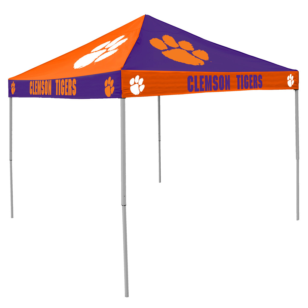 Clemson University Tigers Checkerboard Tailgating Tent  sc 1 st  Tailgatorz & Clemson University Tigers Checkerboard Tailgating Tent Easy Up ...